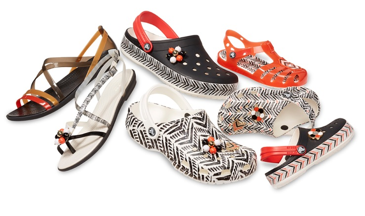 26f9425c027 Some of the Crocs Classic Clogs and sandals that Barrymore designed for her  partnership with Crocs in early 2018